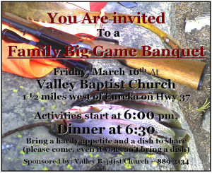 Family Big Game Banquet 2018