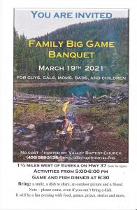 Family Big Game Banquet       2021